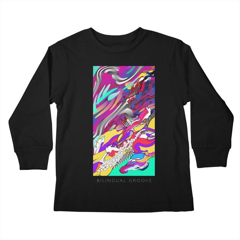 BILINGUAL GROOVE Kids Longsleeve T-Shirt by mu's Artist Shop