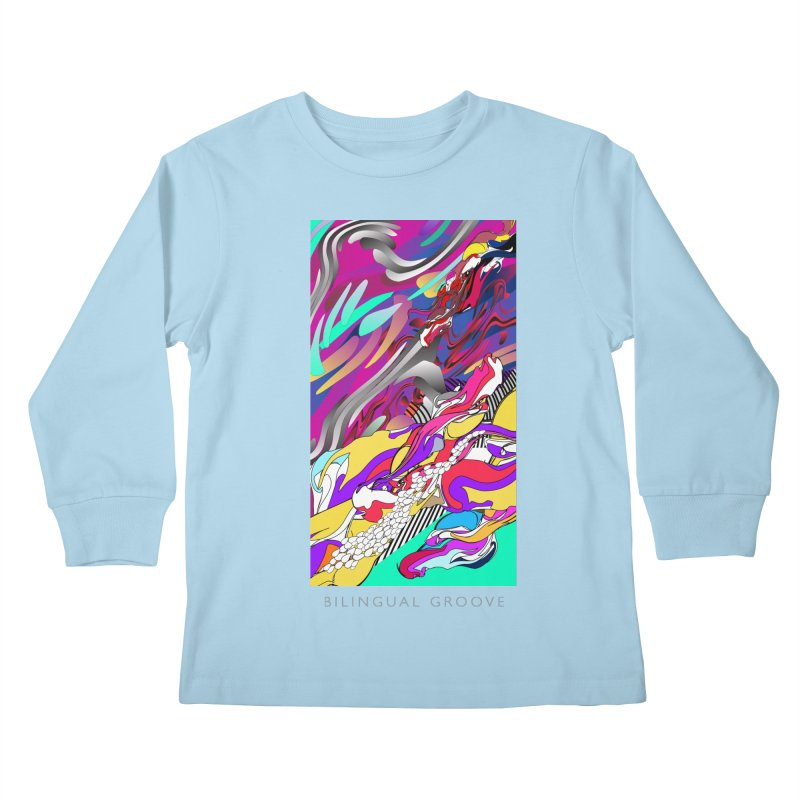BILINGUAL GROOVE Kids Longsleeve T-Shirt by mu's Artist Shop
