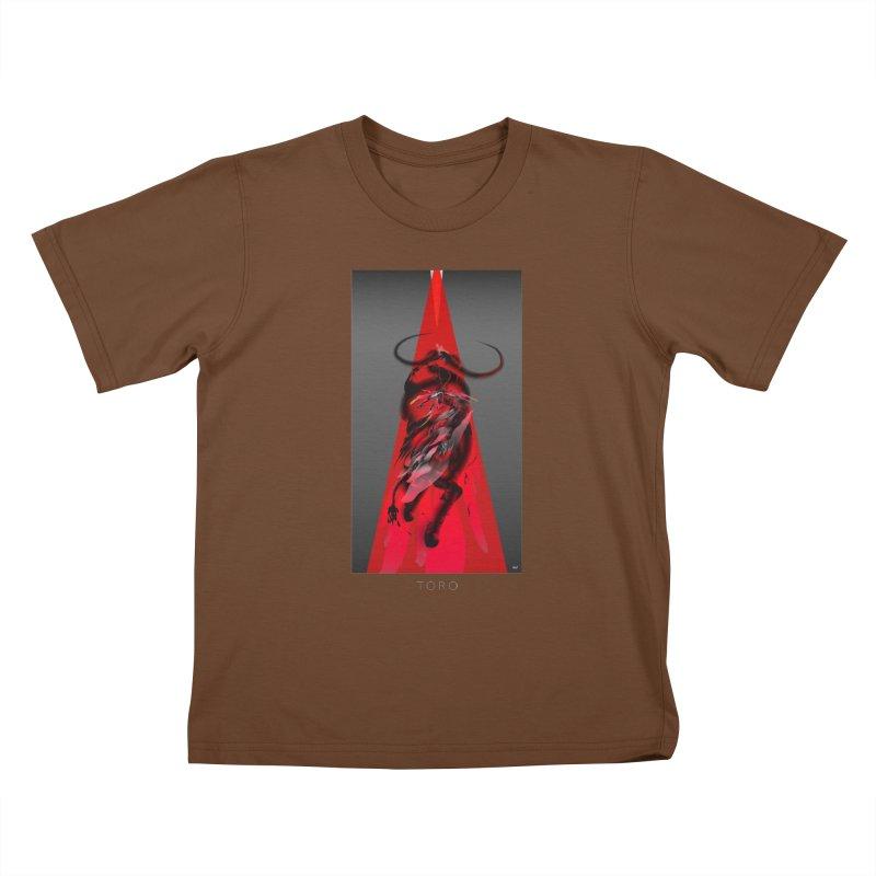 TORO! Kids T-Shirt by mu's Artist Shop