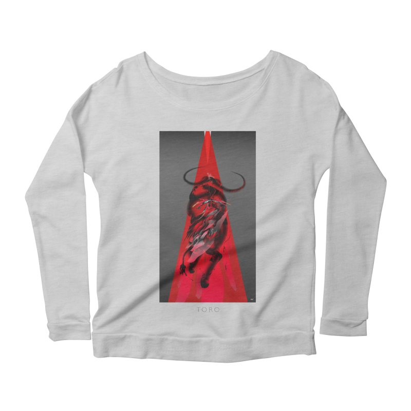 TORO! Women's Scoop Neck Longsleeve T-Shirt by mu's Artist Shop