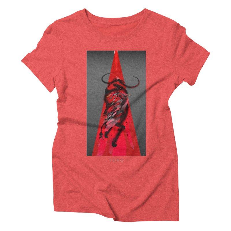TORO! in Women's Triblend T-Shirt Chili Red by mu's Artist Shop