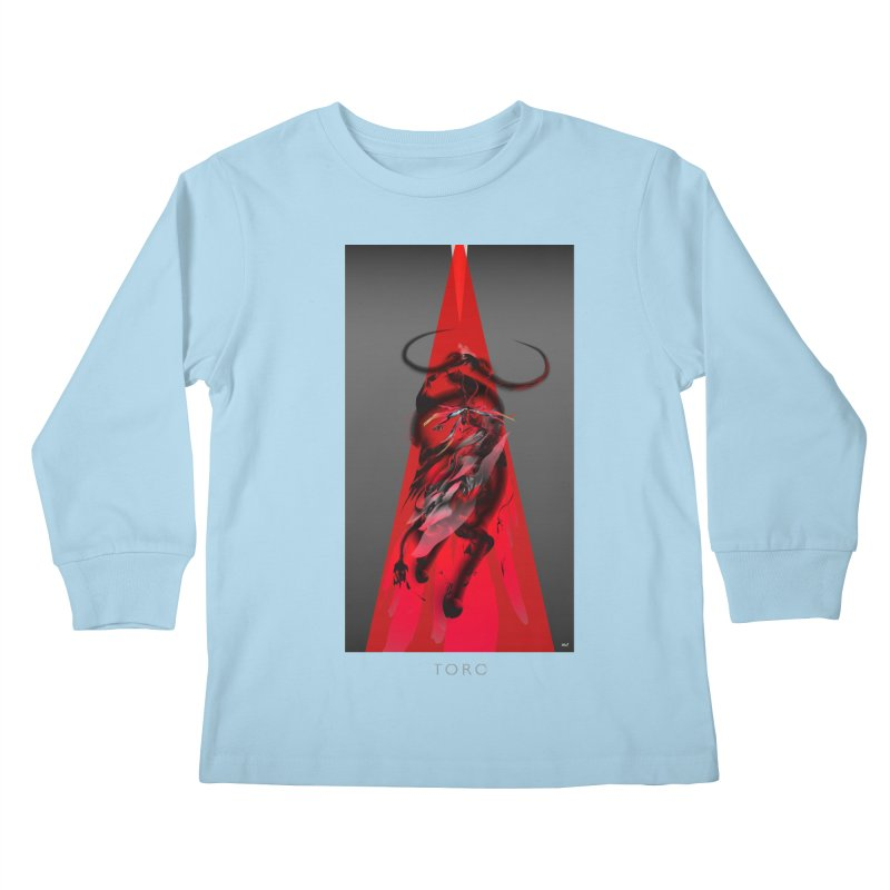 TORO! Kids Longsleeve T-Shirt by mu's Artist Shop