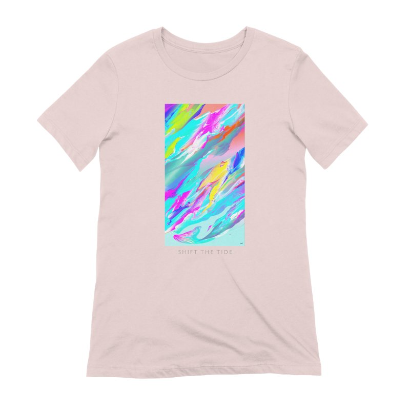 SHIFT THE TIDE Women's Extra Soft T-Shirt by mu's Artist Shop