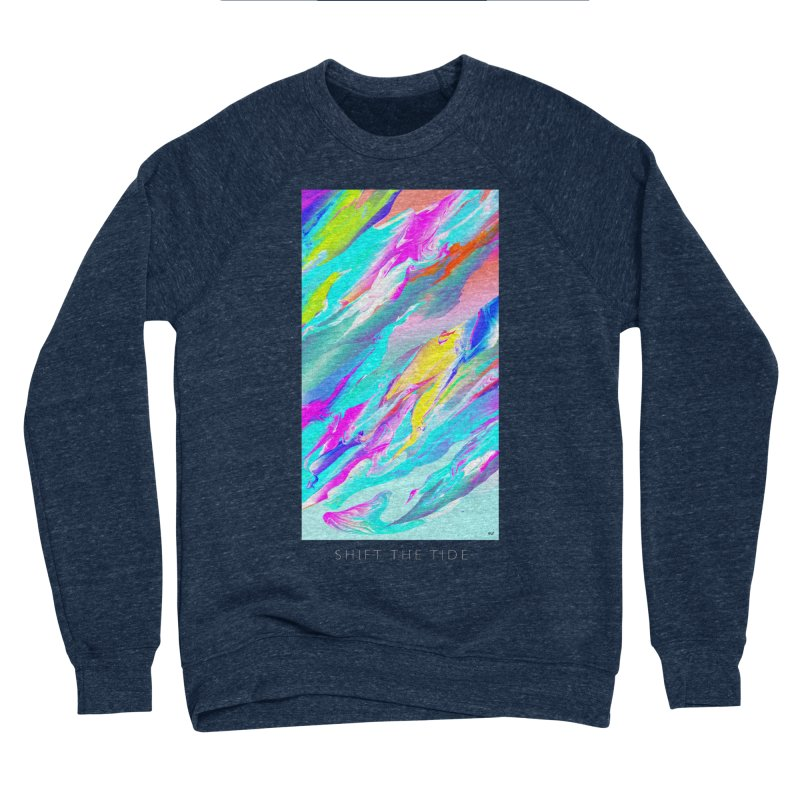 SHIFT THE TIDE Men's Sponge Fleece Sweatshirt by mu's Artist Shop