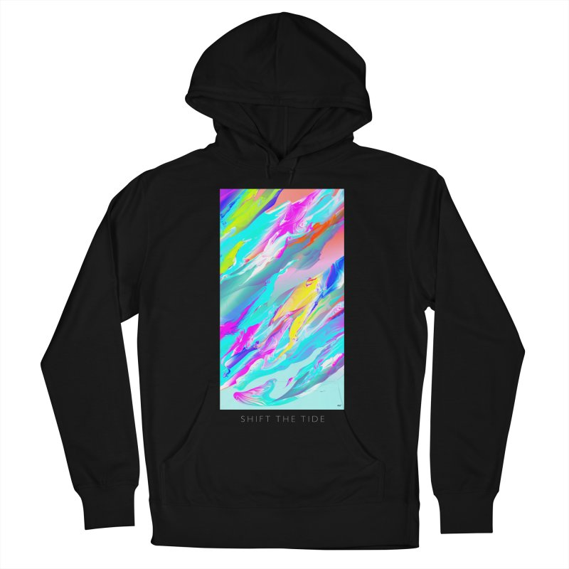 SHIFT THE TIDE Women's French Terry Pullover Hoody by mu's Artist Shop