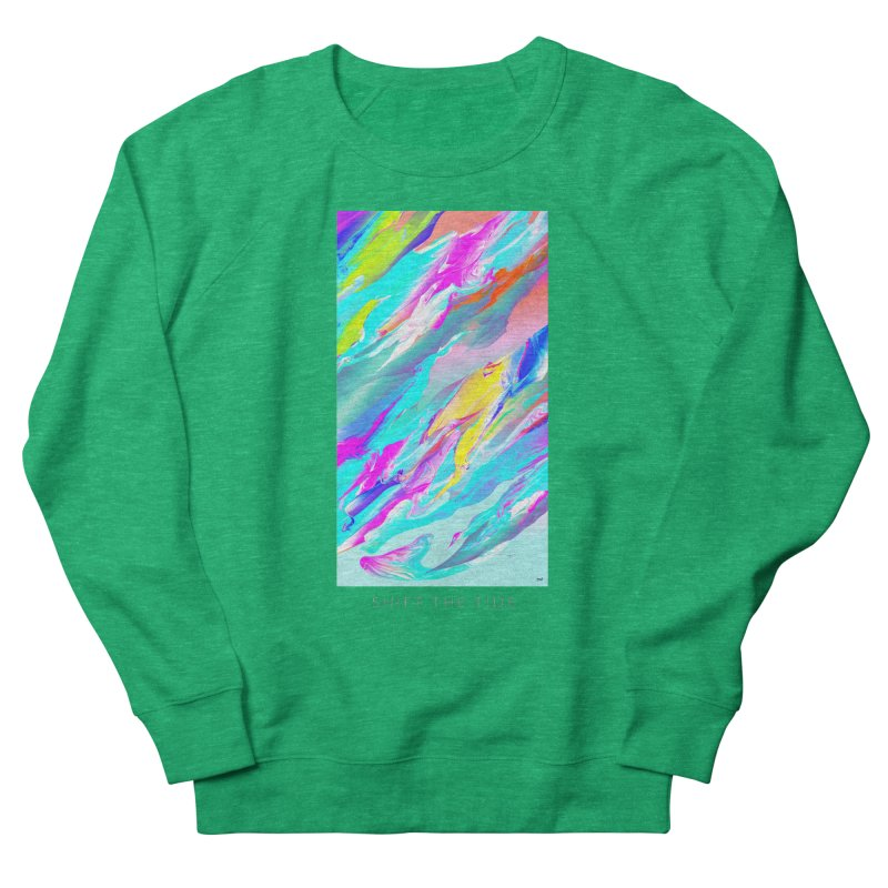 SHIFT THE TIDE Women's French Terry Sweatshirt by mu's Artist Shop