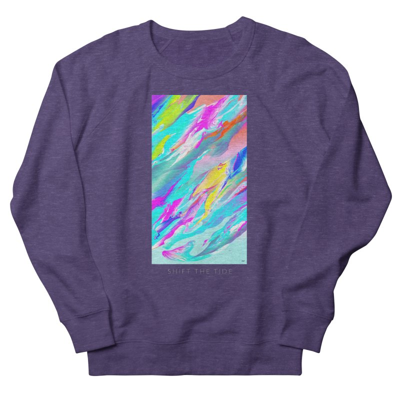 SHIFT THE TIDE Men's French Terry Sweatshirt by mu's Artist Shop