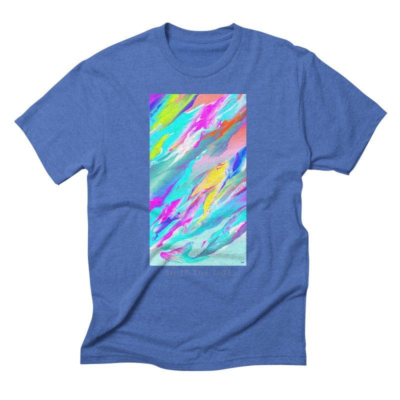 SHIFT THE TIDE Men's Triblend T-Shirt by mu's Artist Shop