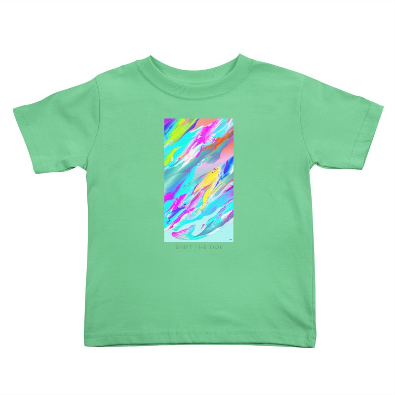 SHIFT THE TIDE Kids Toddler T-Shirt by mu's Artist Shop