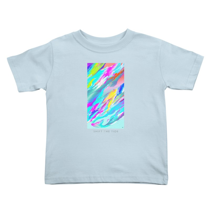 SHIFT THE TIDE Kids Toddler T-Shirt by mu's Artist Shop