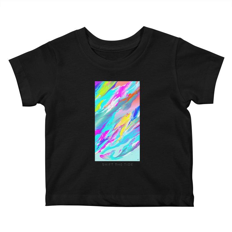 SHIFT THE TIDE Kids Baby T-Shirt by mu's Artist Shop