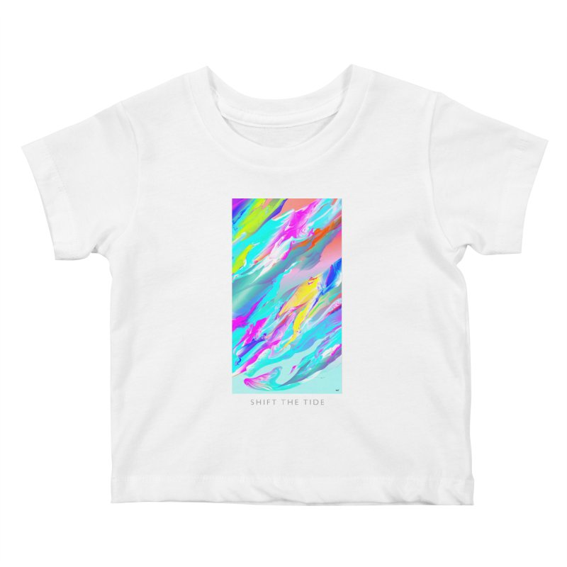 SHIFT THE TIDE Kids Baby T-Shirt by mu's Artist Shop