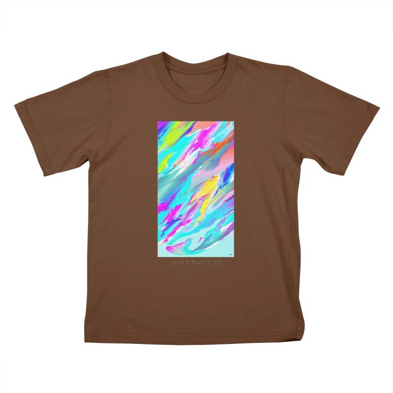 SHIFT THE TIDE Kids T-Shirt by mu's Artist Shop