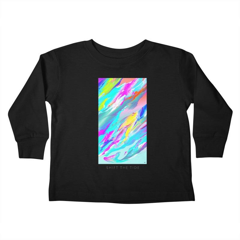 SHIFT THE TIDE Kids Toddler Longsleeve T-Shirt by mu's Artist Shop