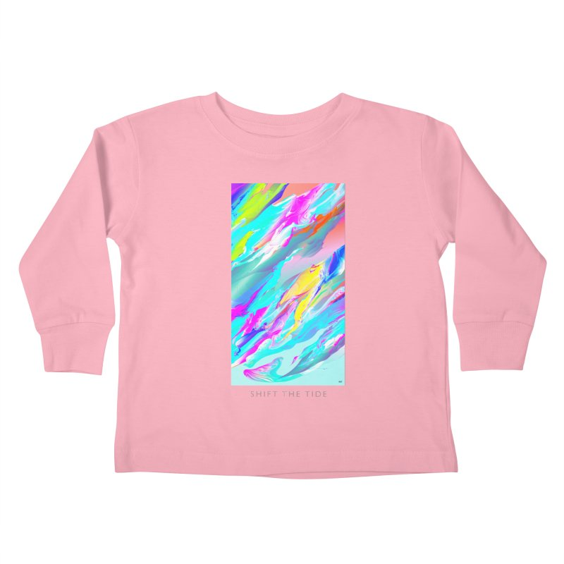 SHIFT THE TIDE Kids Toddler Longsleeve T-Shirt by mu's Artist Shop