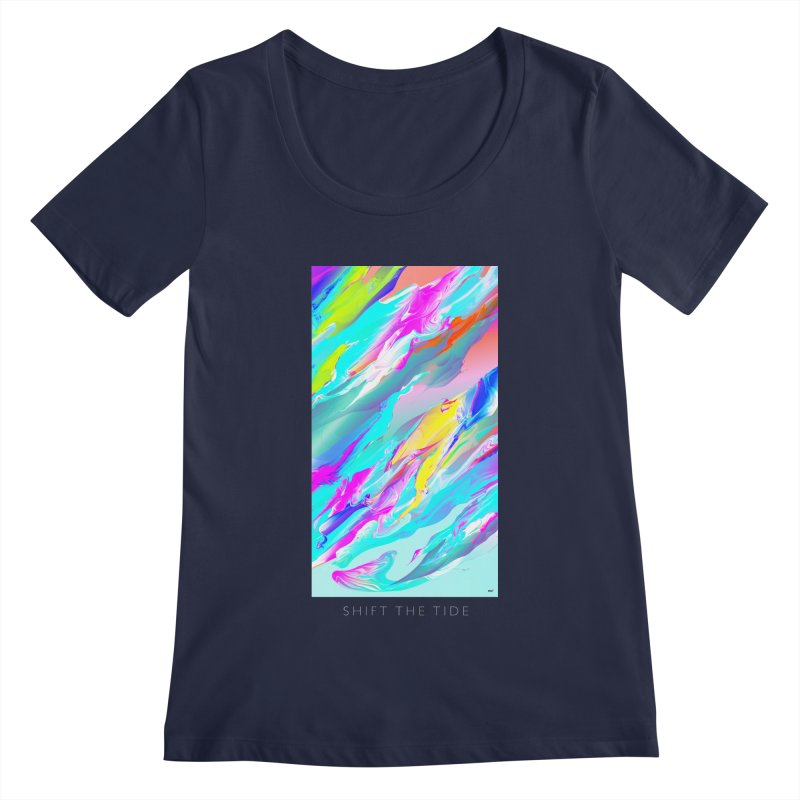 SHIFT THE TIDE Women's Regular Scoop Neck by mu's Artist Shop