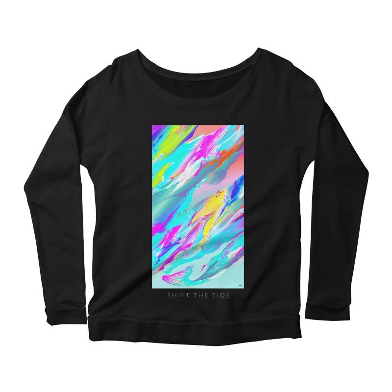 SHIFT THE TIDE Women's Scoop Neck Longsleeve T-Shirt by mu's Artist Shop