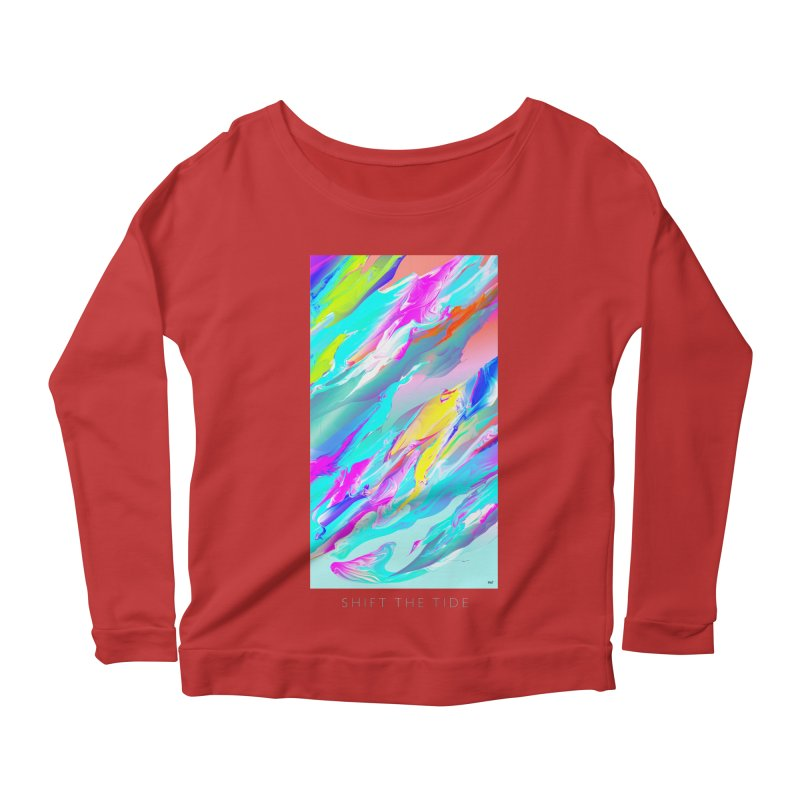 SHIFT THE TIDE Women's Scoop Neck Longsleeve T-Shirt by mu's Artist Shop