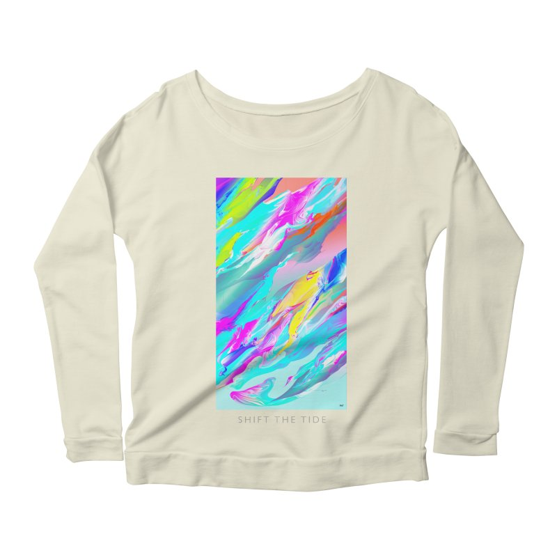 SHIFT THE TIDE Women's Longsleeve Scoopneck  by mu's Artist Shop