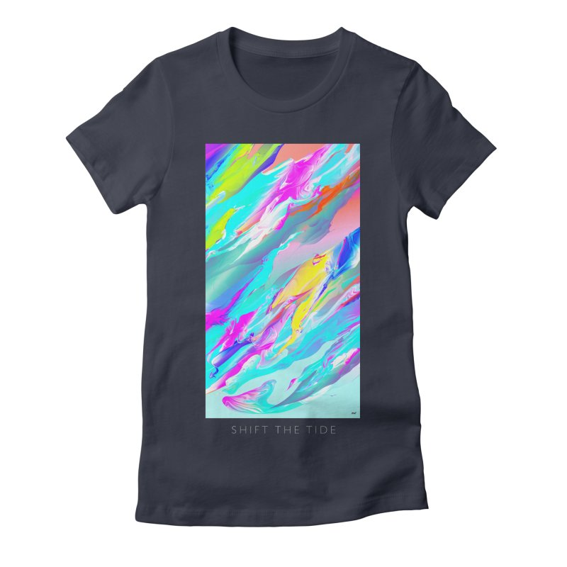 SHIFT THE TIDE Women's Fitted T-Shirt by mu's Artist Shop