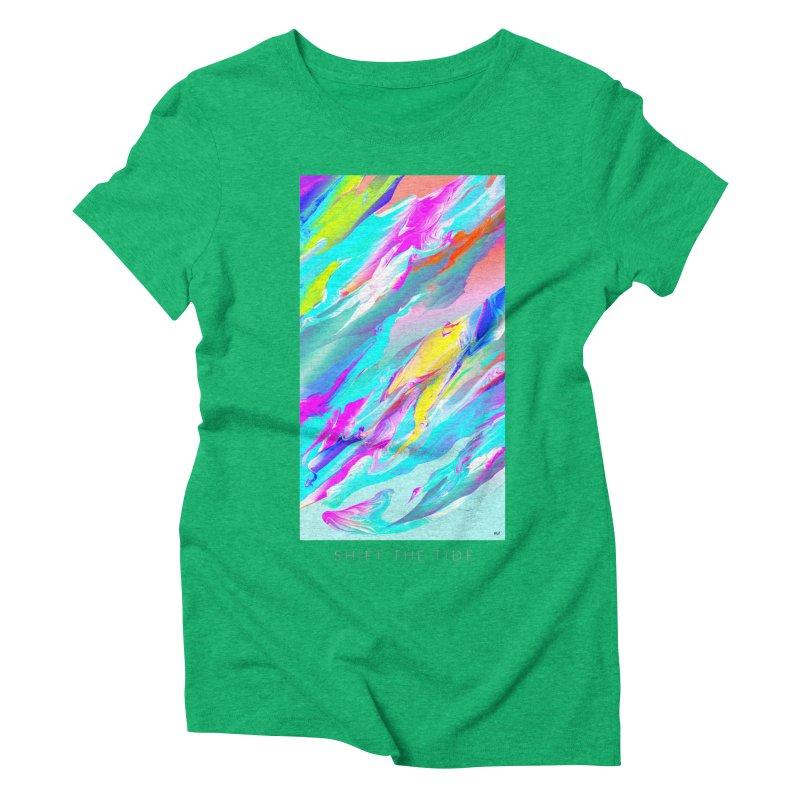 SHIFT THE TIDE Women's Triblend T-Shirt by mu's Artist Shop