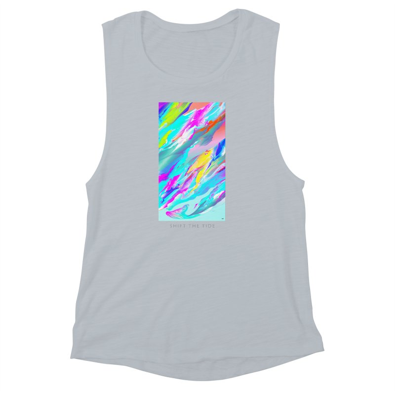SHIFT THE TIDE Women's Muscle Tank by mu's Artist Shop