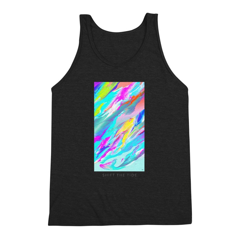 SHIFT THE TIDE Men's Triblend Tank by mu's Artist Shop
