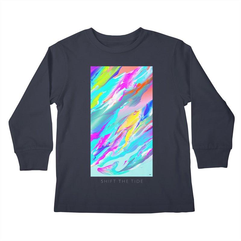 SHIFT THE TIDE Kids Longsleeve T-Shirt by mu's Artist Shop