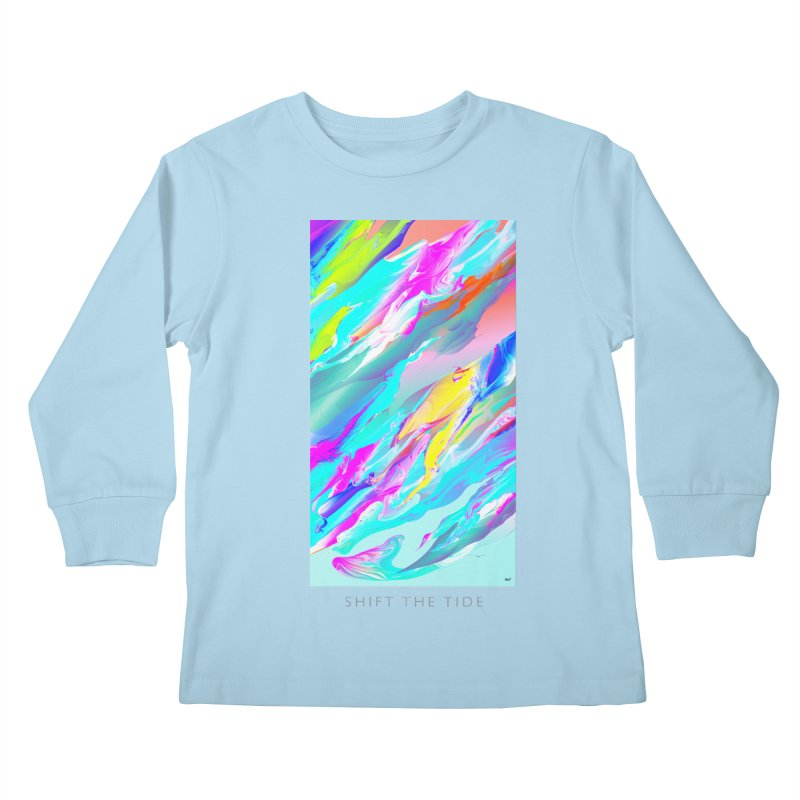SHIFT THE TIDE Kids Longsleeve T-Shirt by mu's Artist Shop
