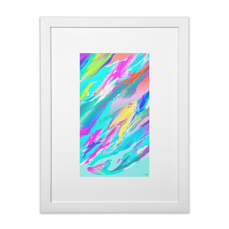 SHIFT THE TIDE in Framed Fine Art Print White by mu's Artist Shop
