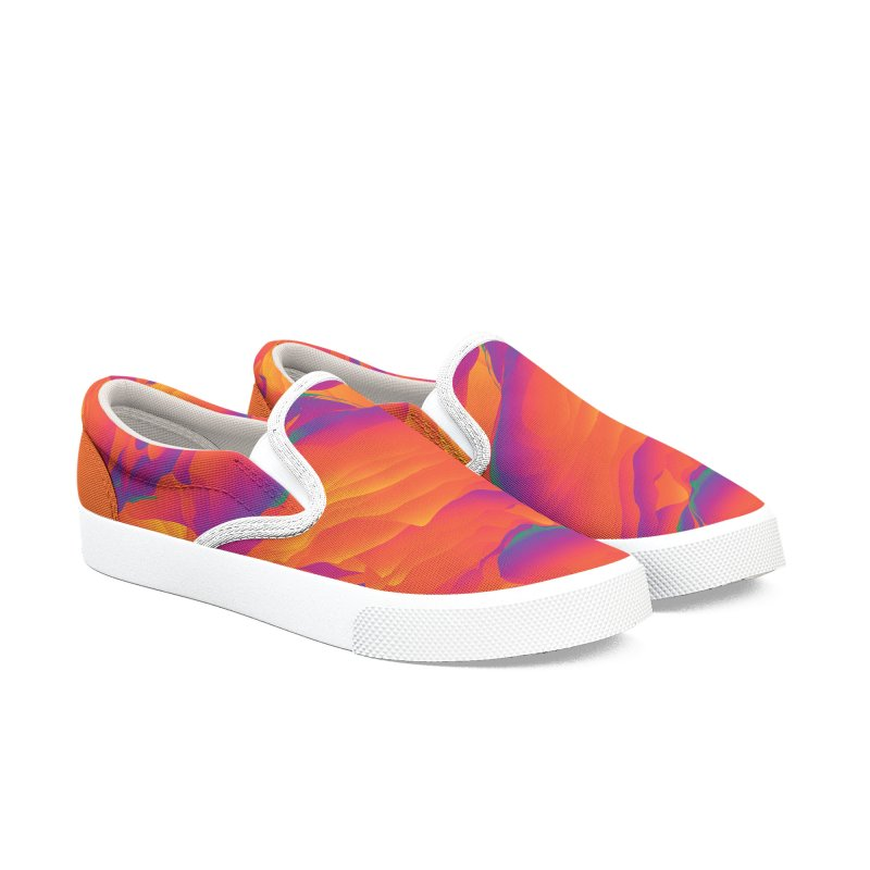 SUNSET WARS in Men's Slip-On Shoes by mu's Artist Shop