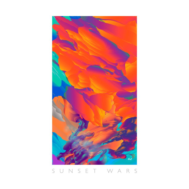 Sunset Wars Men's Triblend T-Shirt by mu's Artist Shop