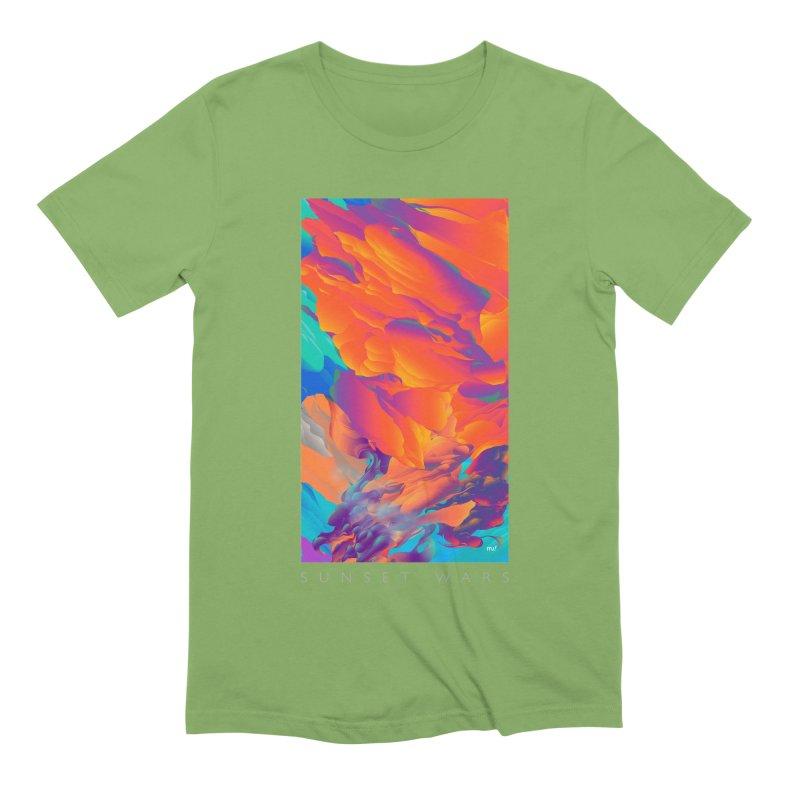 SUNSET WARS Men's Extra Soft T-Shirt by mu's Artist Shop