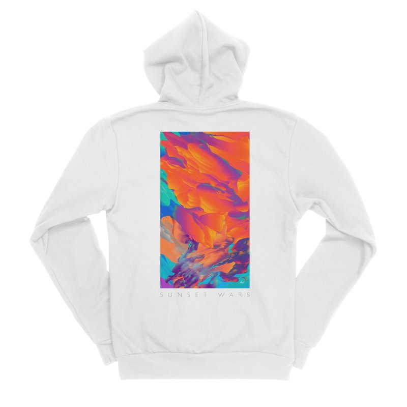 SUNSET WARS Men's Sponge Fleece Zip-Up Hoody by mu's Artist Shop