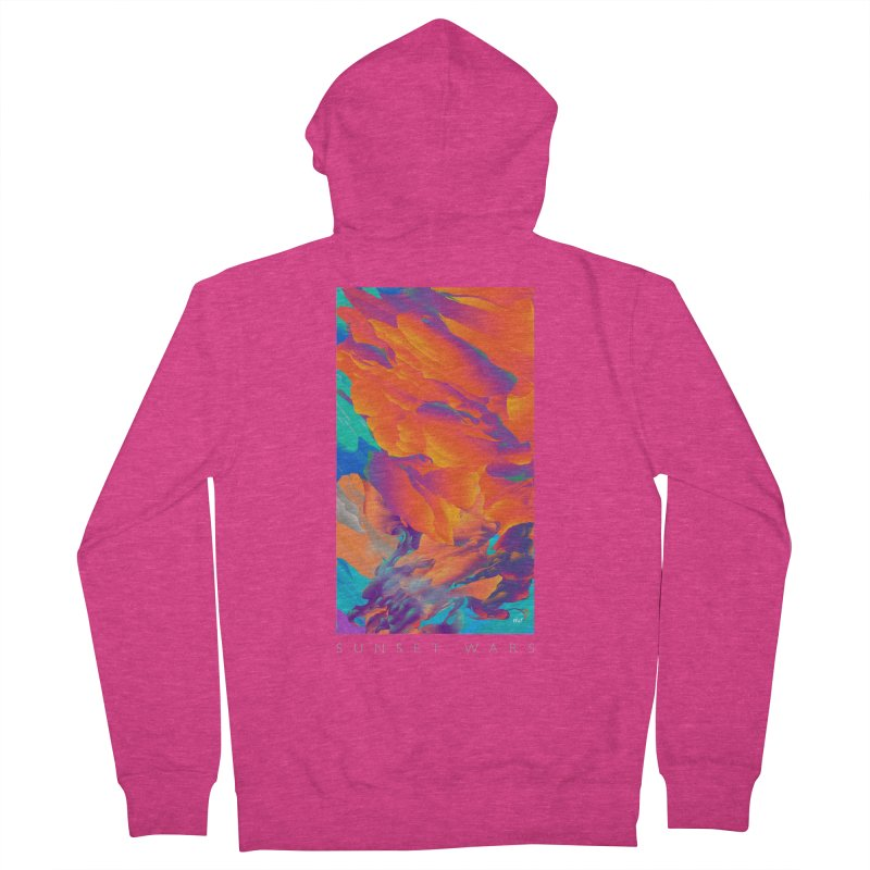 SUNSET WARS Women's French Terry Zip-Up Hoody by mu's Artist Shop