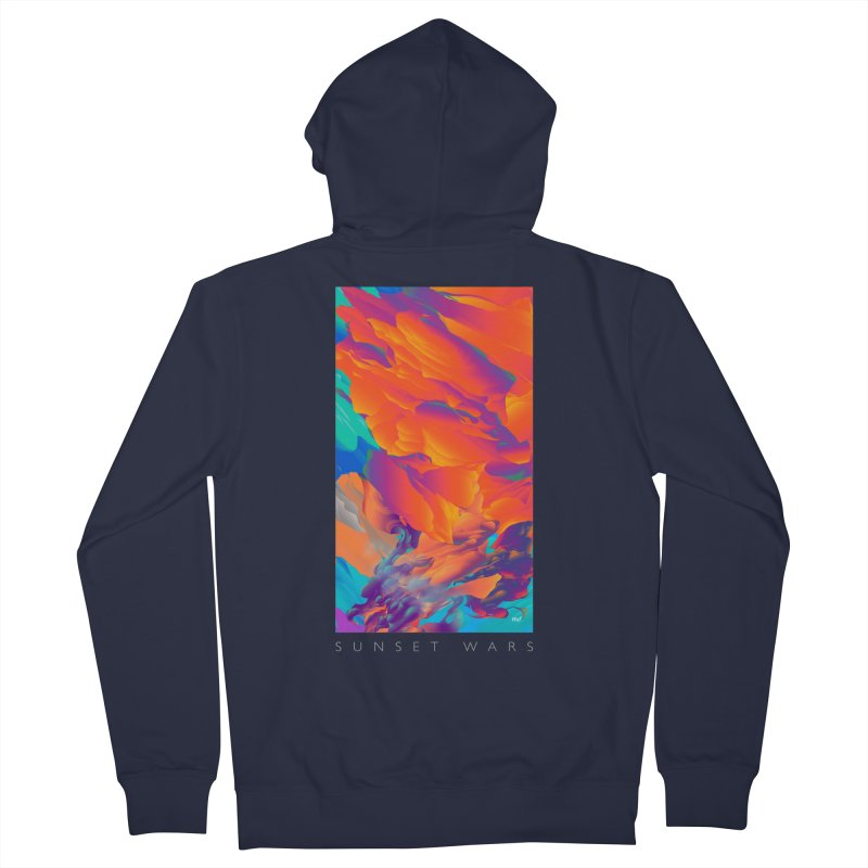 SUNSET WARS Men's French Terry Zip-Up Hoody by mu's Artist Shop