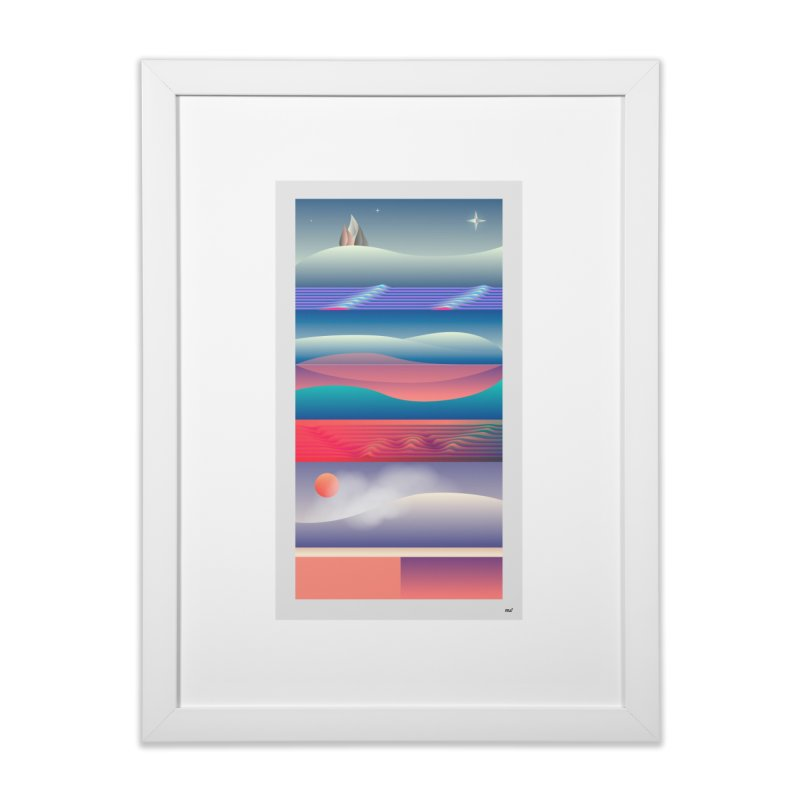 Journeys in Framed Fine Art Print White by mu's Artist Shop