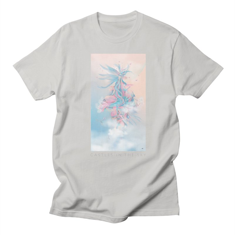 Castles in the sky in Men's Regular T-Shirt Stone by mu's Artist Shop