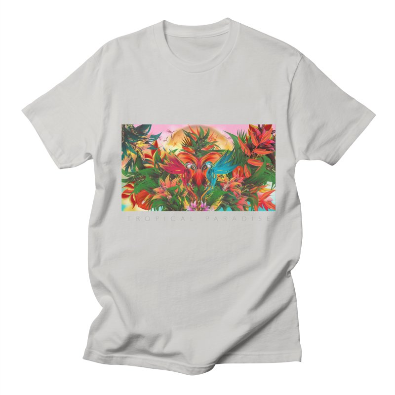 Tropical Paradise in Men's Regular T-Shirt Stone by mu's Artist Shop