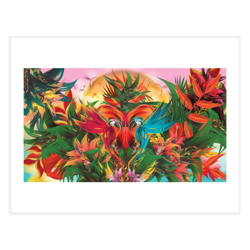 Tropical Paradise Home Fine Art Print by mu's Artist Shop