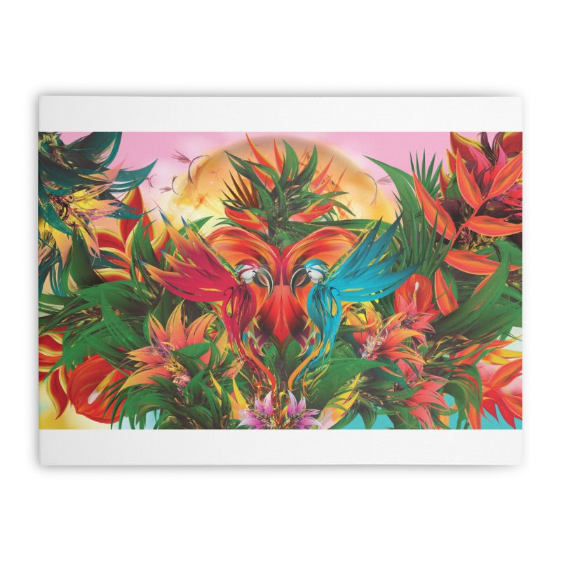 Tropical Paradise Home Stretched Canvas by mu's Artist Shop