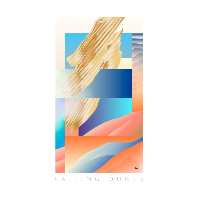 Sailing Dunes Men's T-Shirt by mu's Artist Shop