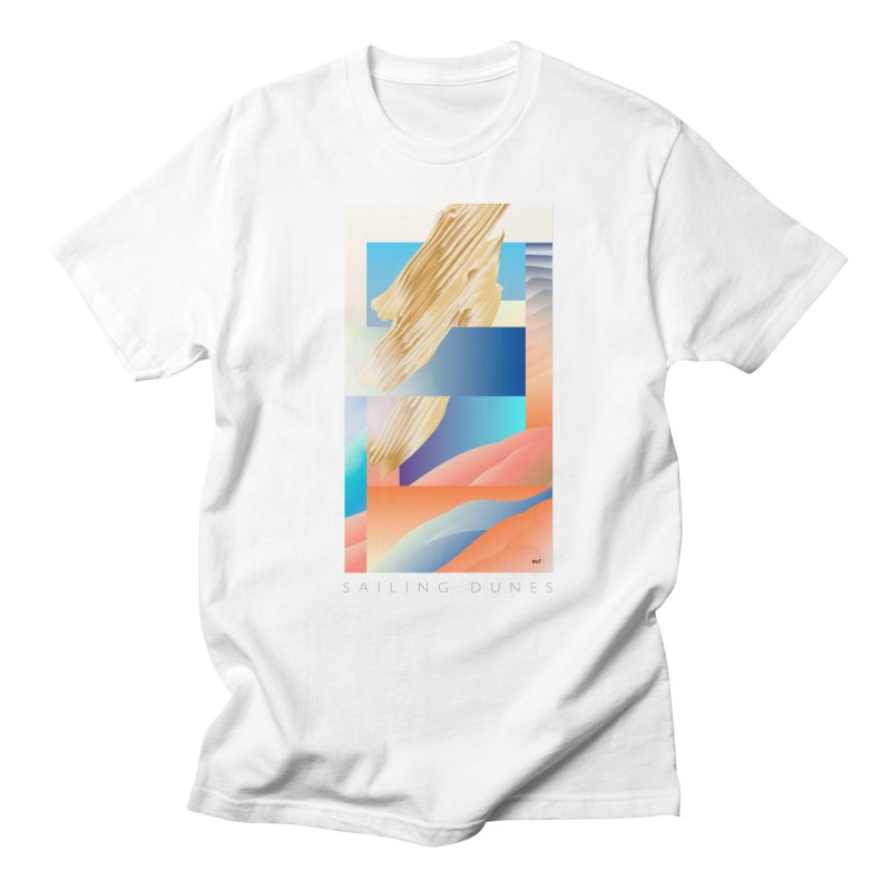 Sailing Dunes in Men's Regular T-Shirt White by mu's Artist Shop