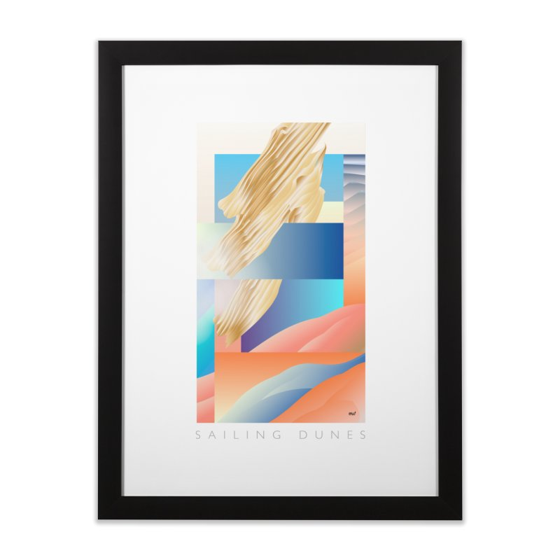 Sailing Dunes Home Framed Fine Art Print by mu's Artist Shop