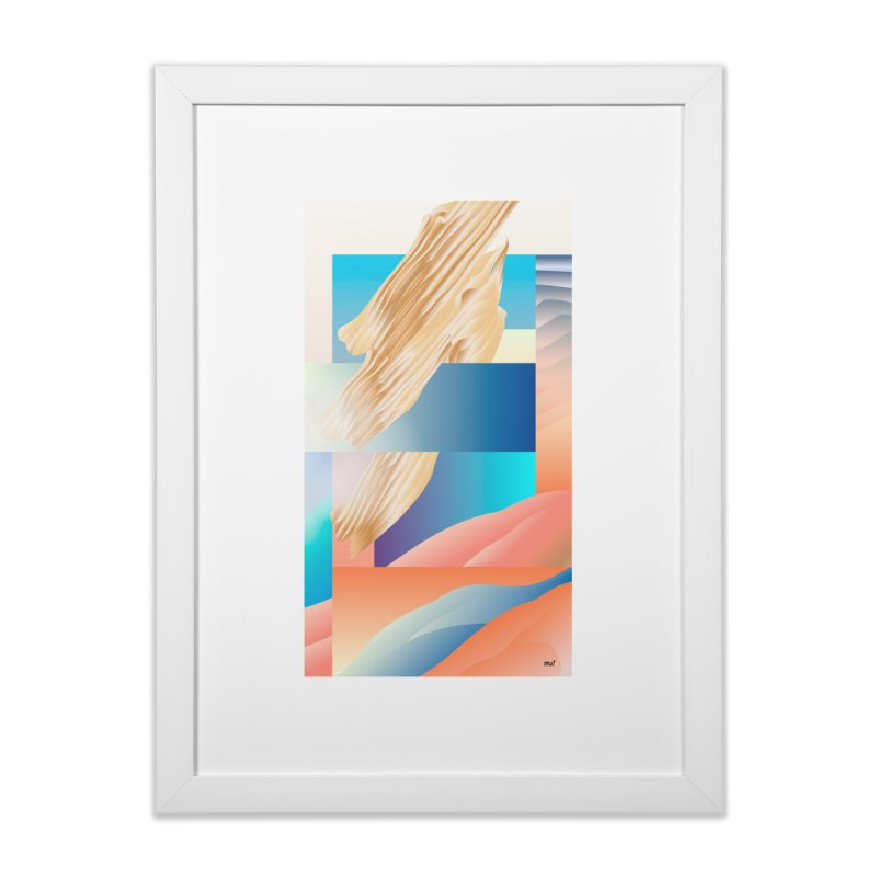 Sailing Dunes in Framed Fine Art Print White by mu's Artist Shop