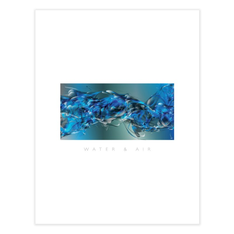 Water & Air Home Fine Art Print by mu's Artist Shop