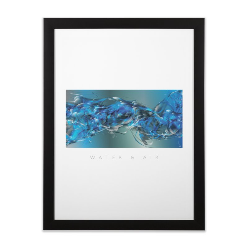 Water & Air Home Framed Fine Art Print by mu's Artist Shop