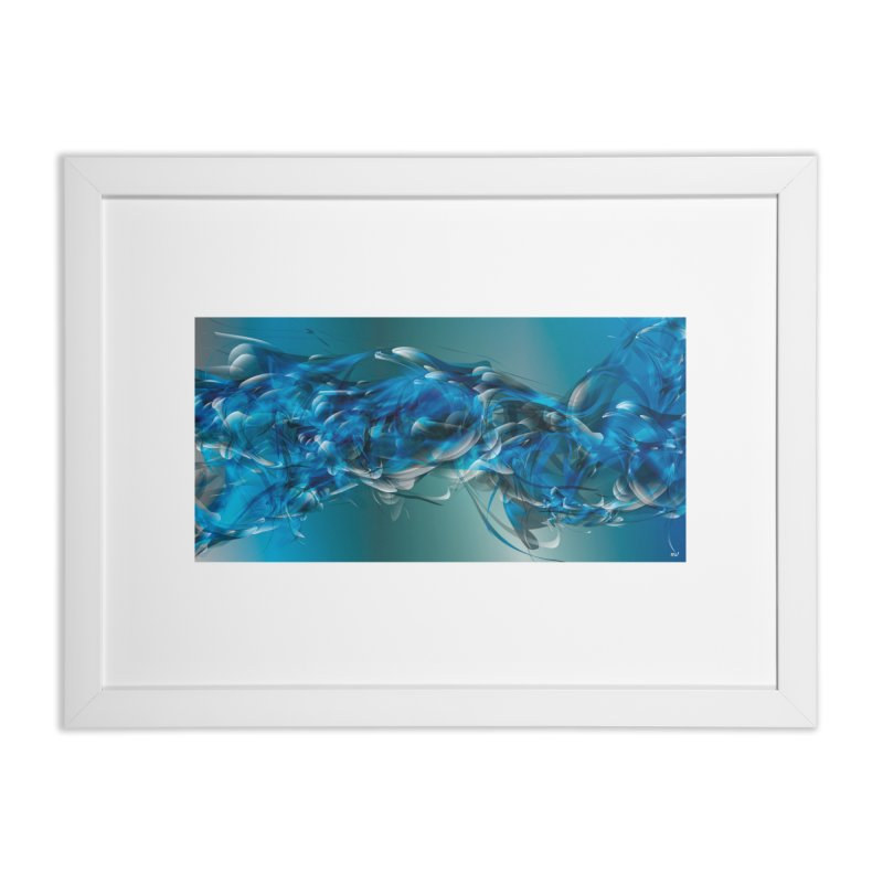 Water & Air in Framed Fine Art Print White by mu's Artist Shop