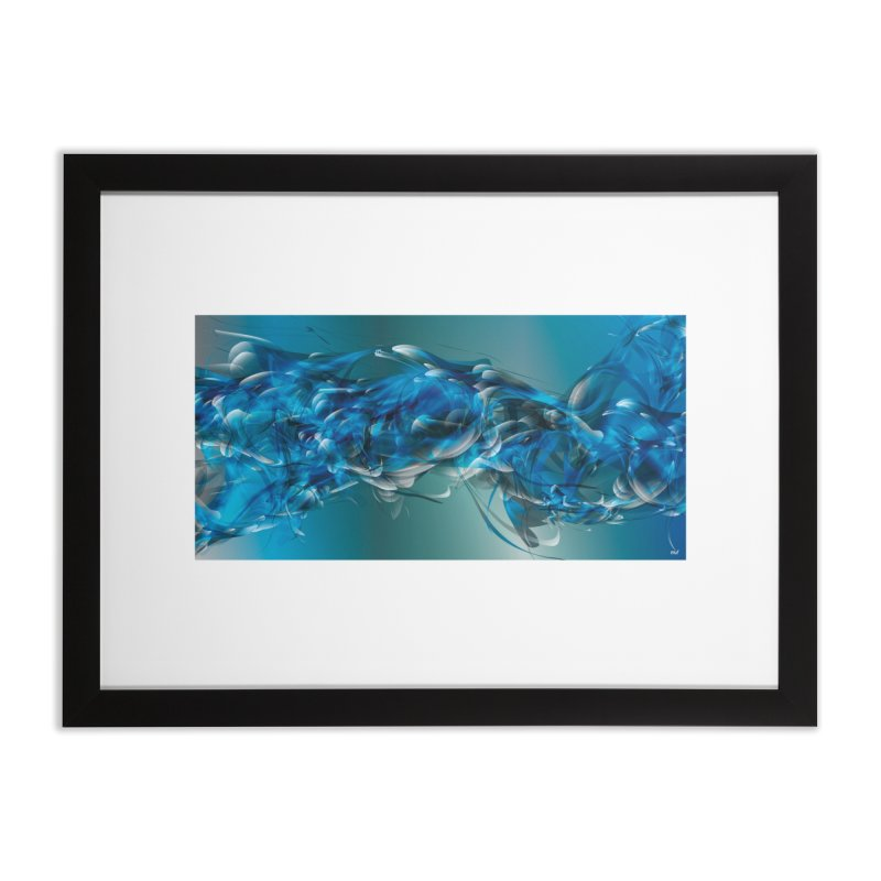 Water & Air in Framed Fine Art Print Black by mu's Artist Shop