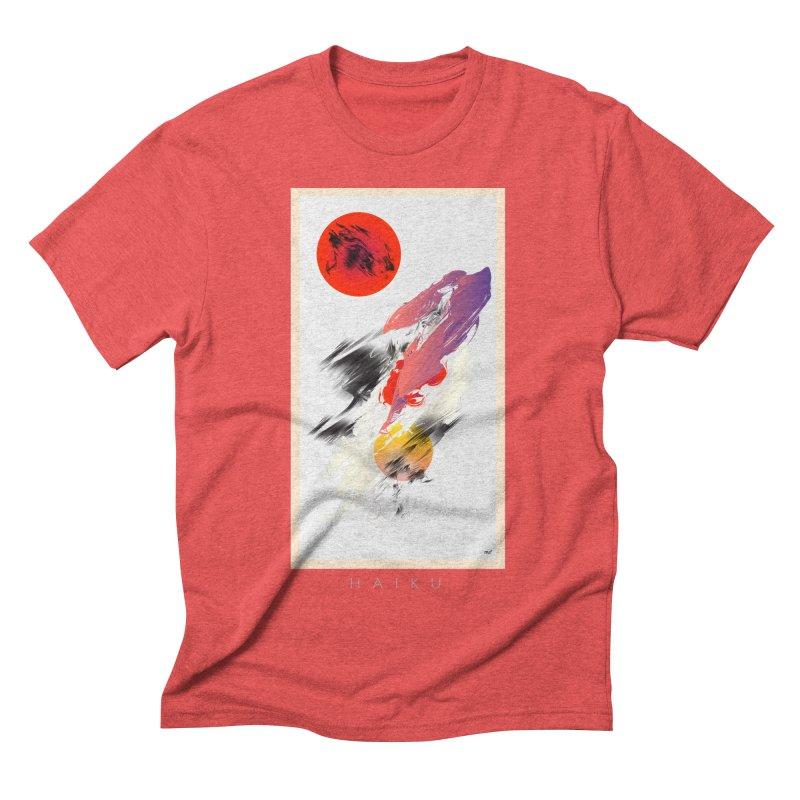 HAIKU in Men's Triblend T-shirt Chili Red by mu's Artist Shop